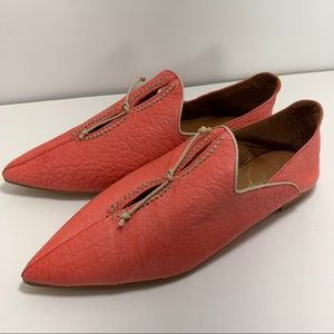 Free People St Lucia Cut Out Flats Shoes Coral